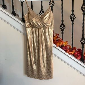 Morgan & Co. gold shimmery sexy dress